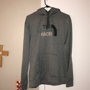 North face hoodie in grey, men's large